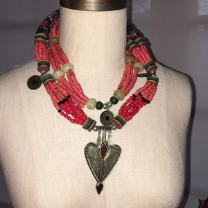Tribal Styled Statement Necklace